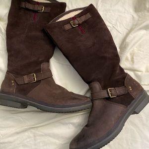 dark brown ugg riding boots